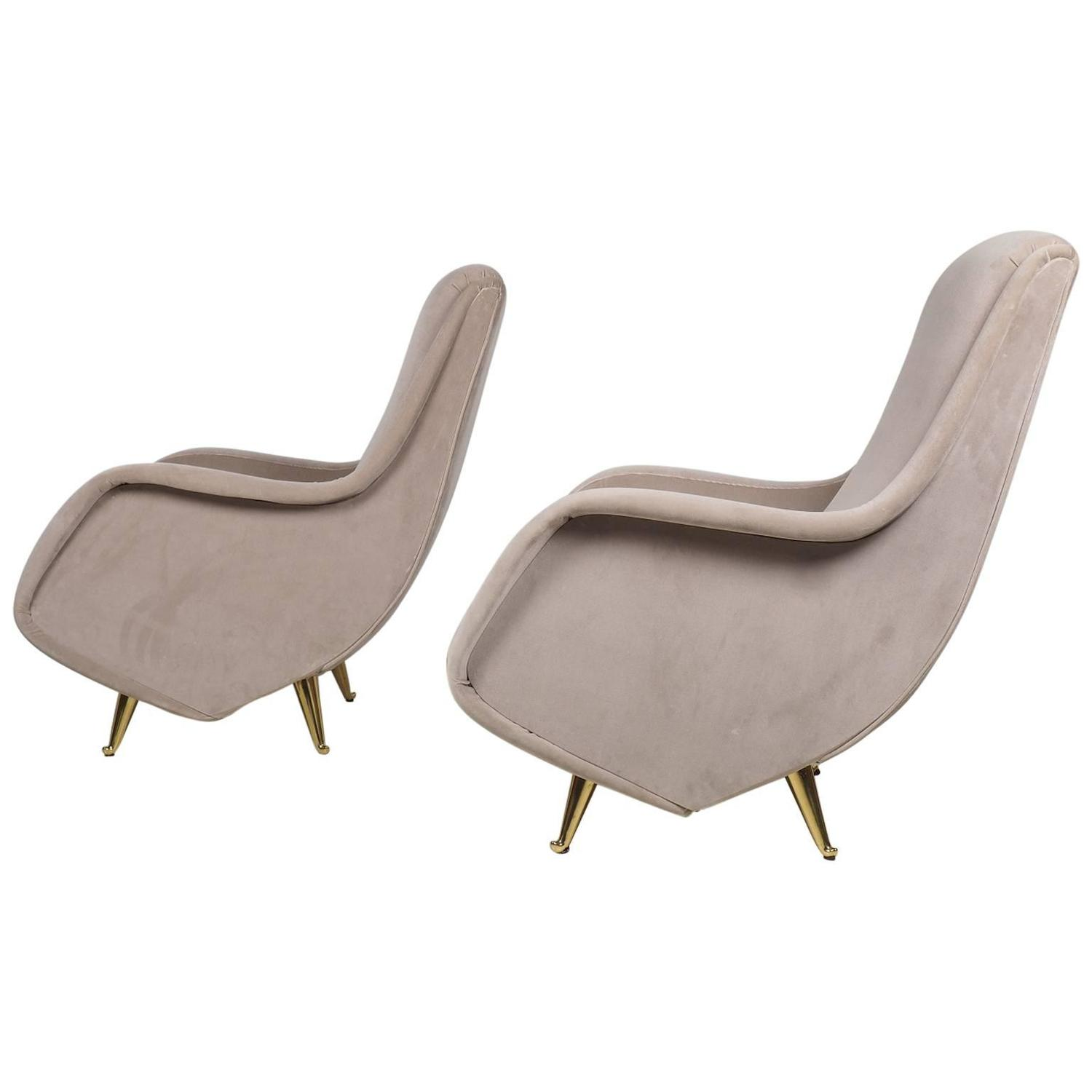 Italian lounge chairs manufactured by isa bergamo italy for Isa arredamenti