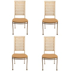 Four Stylish Iron Side Chairs