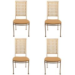 Four Stylish Iron Side Chairs