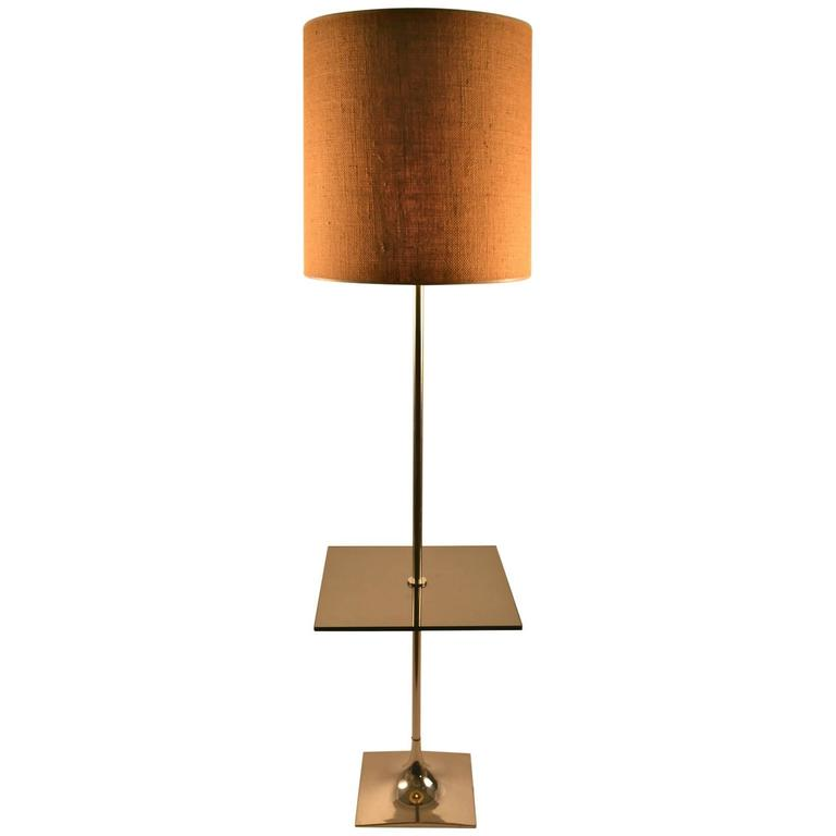 this laurel table floor lamp chrome with smoked glass platform is no. Black Bedroom Furniture Sets. Home Design Ideas