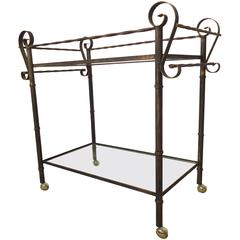 Vintage Iron Bar Cart