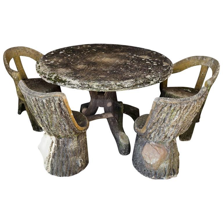 Garden Furniture France set of fois bois table and chairs garden furniture, france, circa