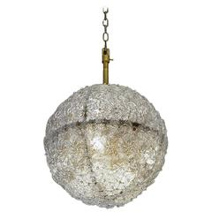 Lovely Suspension Covered with Murano Glass Flowers