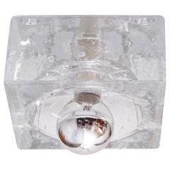 Einer von Sechs Quadratischen Einbauleuchten aus Bubble Glas im Stil von Alessandro Mendin