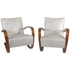 Pair of Art Deco Thonet H269 Armchairs by Jindrich Halabala