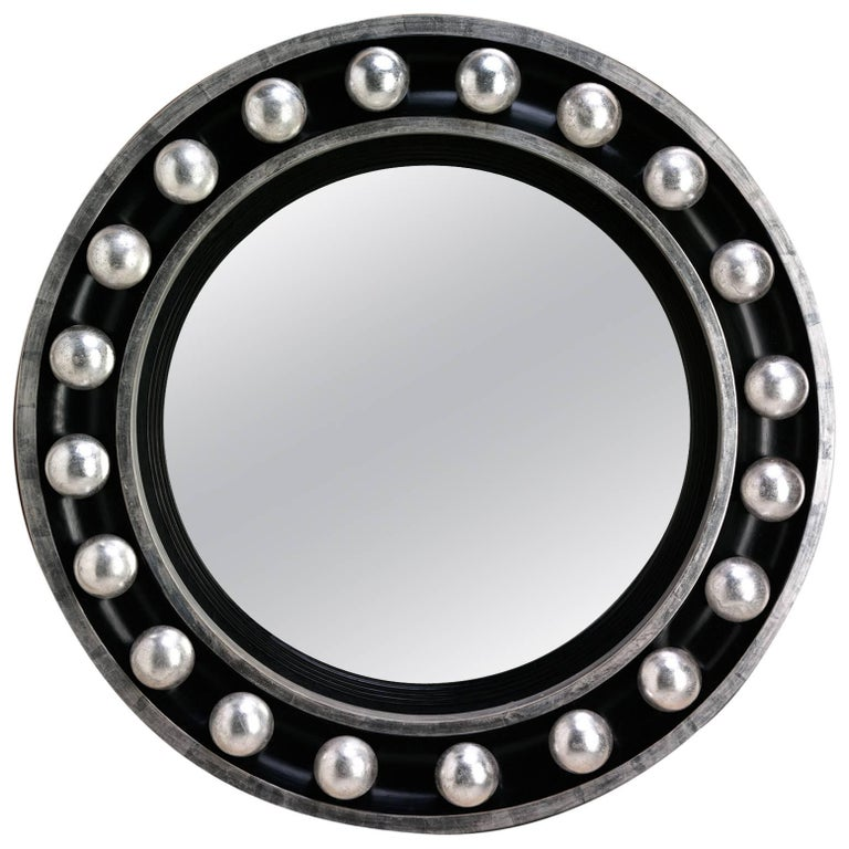 Modernist Classical Convex Mirror For Sale