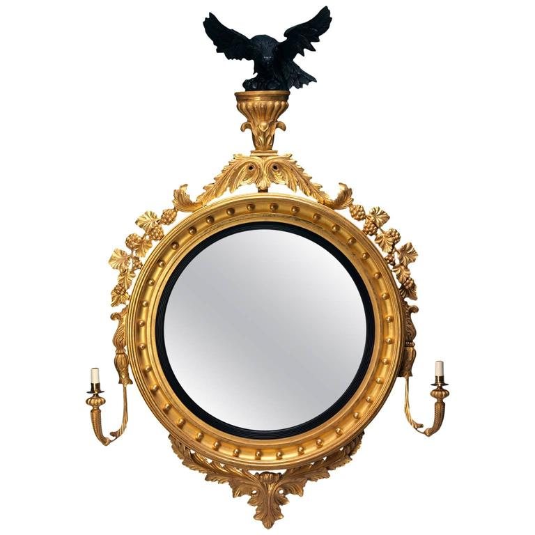 Design Eagle Convex Mirror in the Regency manner