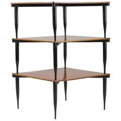 "Set of Three ""T8"" Stackable Tables by Vico Magistretti for Azucena"