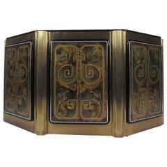 Stunning Mastercraft Demilune Console Cabinet by Bernhard Rohne