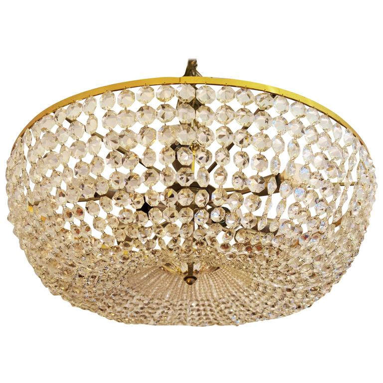 Spectacular Classical Basket Cut Crystal Chandelier by Bakalowits & Söhne