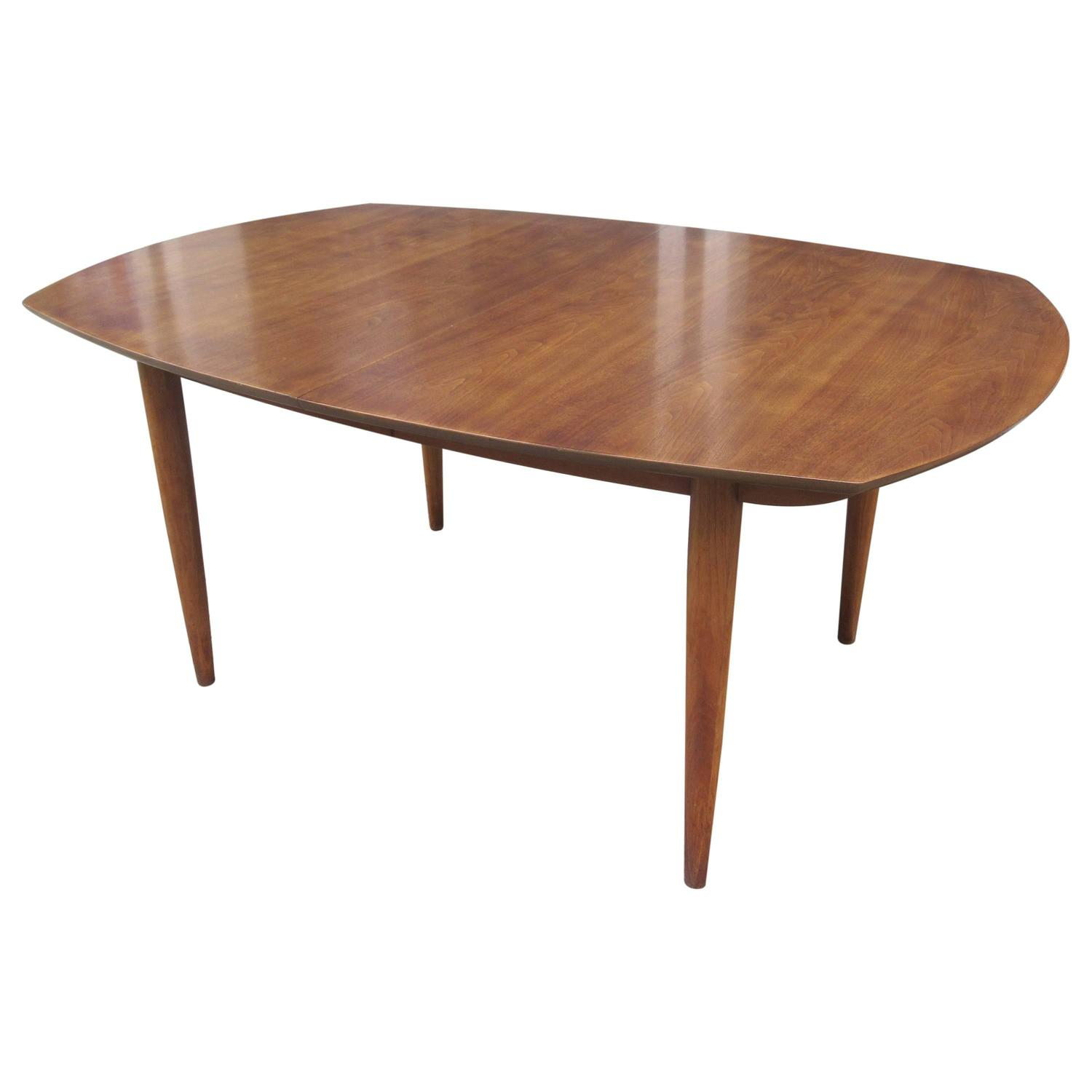 American Walnut Boat Shaped Dining Table At 1stdibs