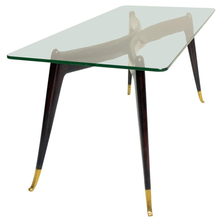 Mid century italian 1950 39 s coffee table gio ponti style for sale at 1stdibs Tuscan style coffee table