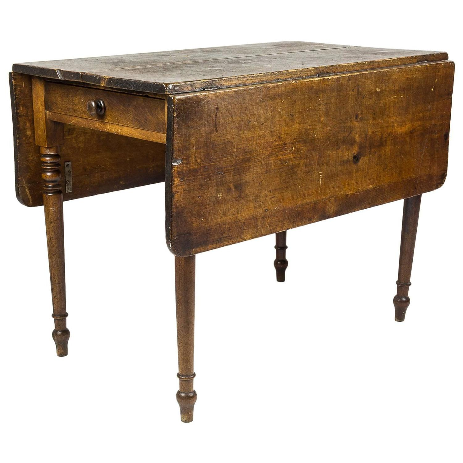 Edwardian drop leaf kitchen table at 1stdibs for Kitchen furniture images