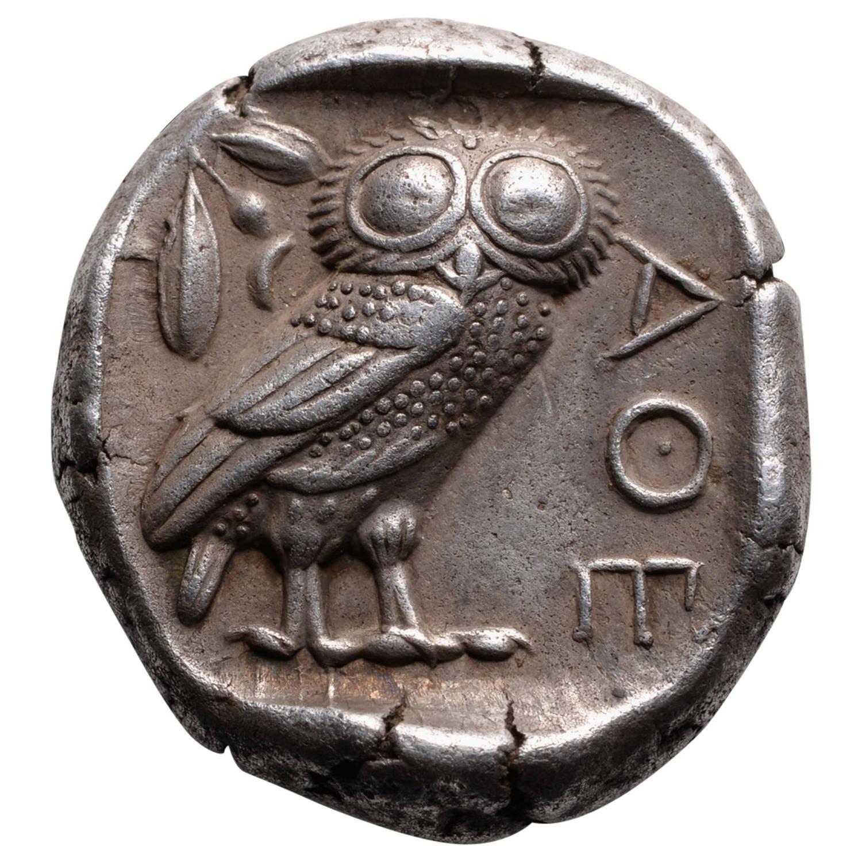 Ancient Athens Owl Symbol