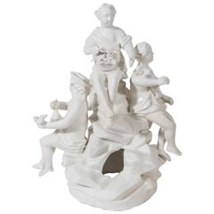 Rare 18th Century Soft Paste French Porcelain Figural Group of the Four Seasons
