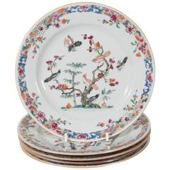 Antique Chinese Porcelain Dishes Symbolizing Youth Beauty and Good Fortune