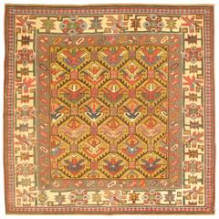 Antique Decorative Shirvan Square Rug