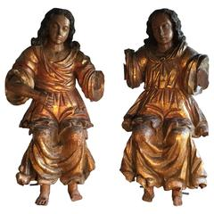 18th Century Pair of Angels