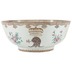 The Pleydell-Bouverie Family Punch Bowl, Chinese Export, circa 1750