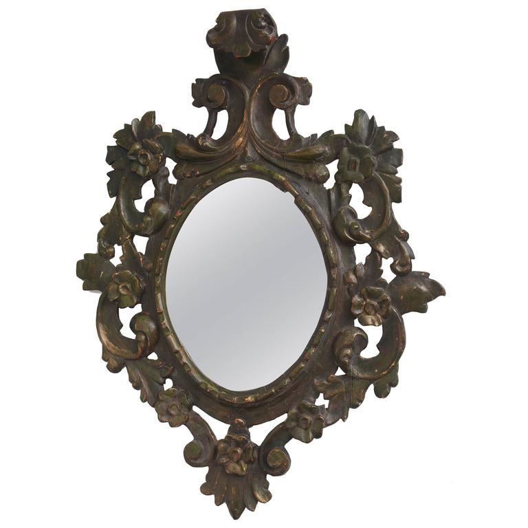 Italian florentine baroque style wall mirror circa for Baroque style wall mirror