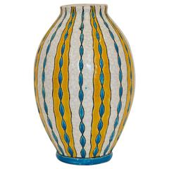 Charles Catteau Three-Colour Geometric Vase