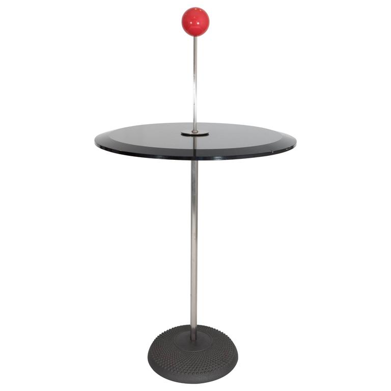 Pierluigi Cerri 'Orio' Glass Top Occasional Table for Fontana Arte For Sale