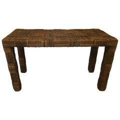 Rope Parsons Console in the Style of Audoux & Minet