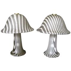Pair of Peill and Putzler Mushroom Table Lamps, Germany, 1965