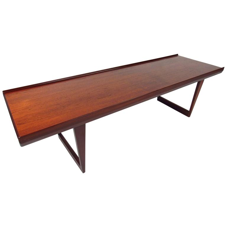 Midcentury danish sled leg coffee table for sale at 1stdibs for Sled coffee table