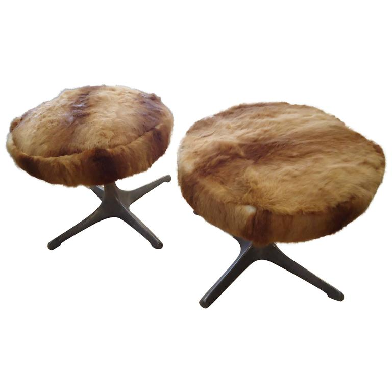Pair Of Funky Custom Rabbit Stools At 1stdibs