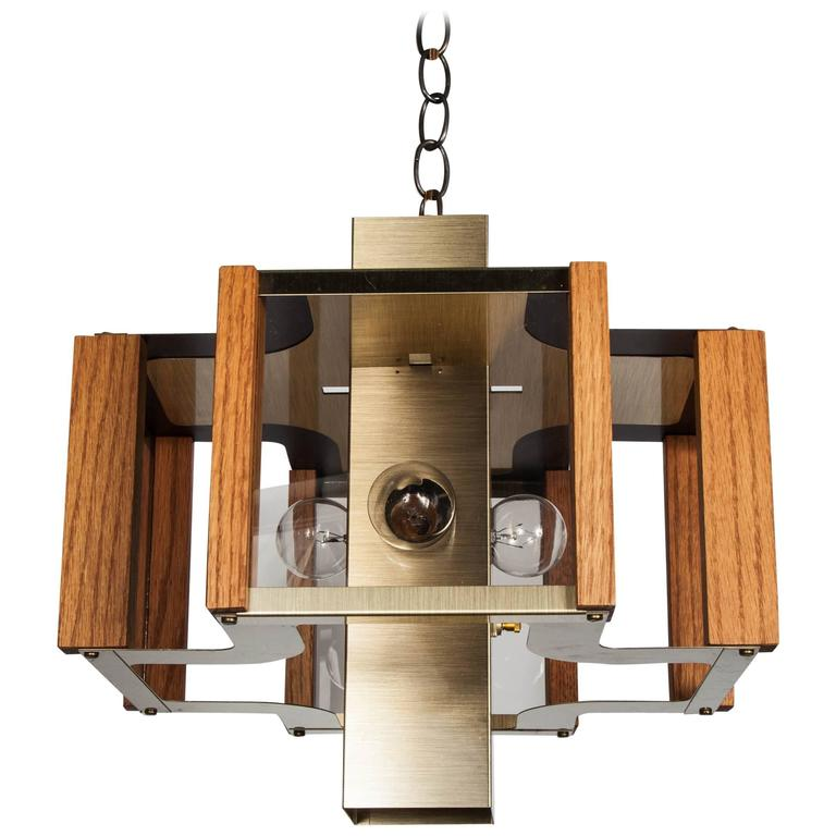 Mid Century Architectural Light Fixture Designed By