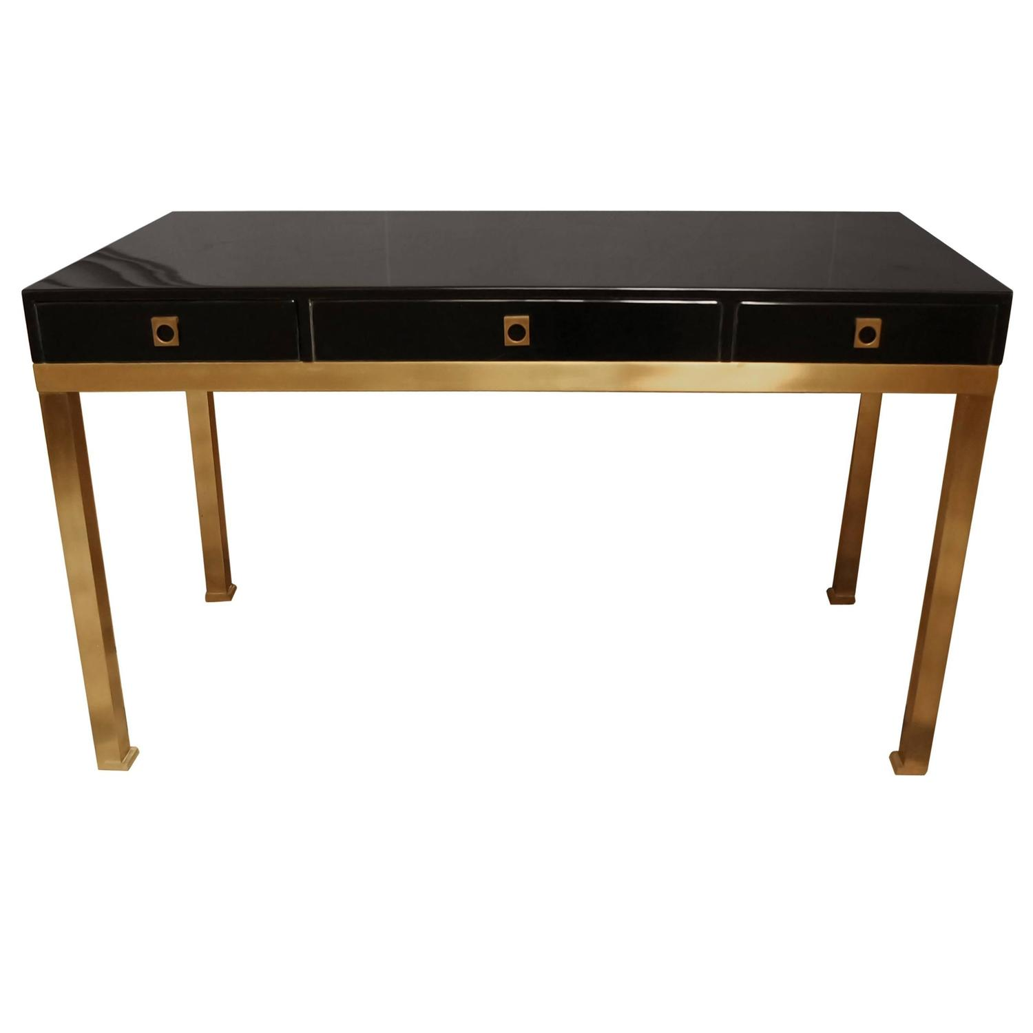 guy lef 232 vre pour jansen beautiful desk at 1stdibs