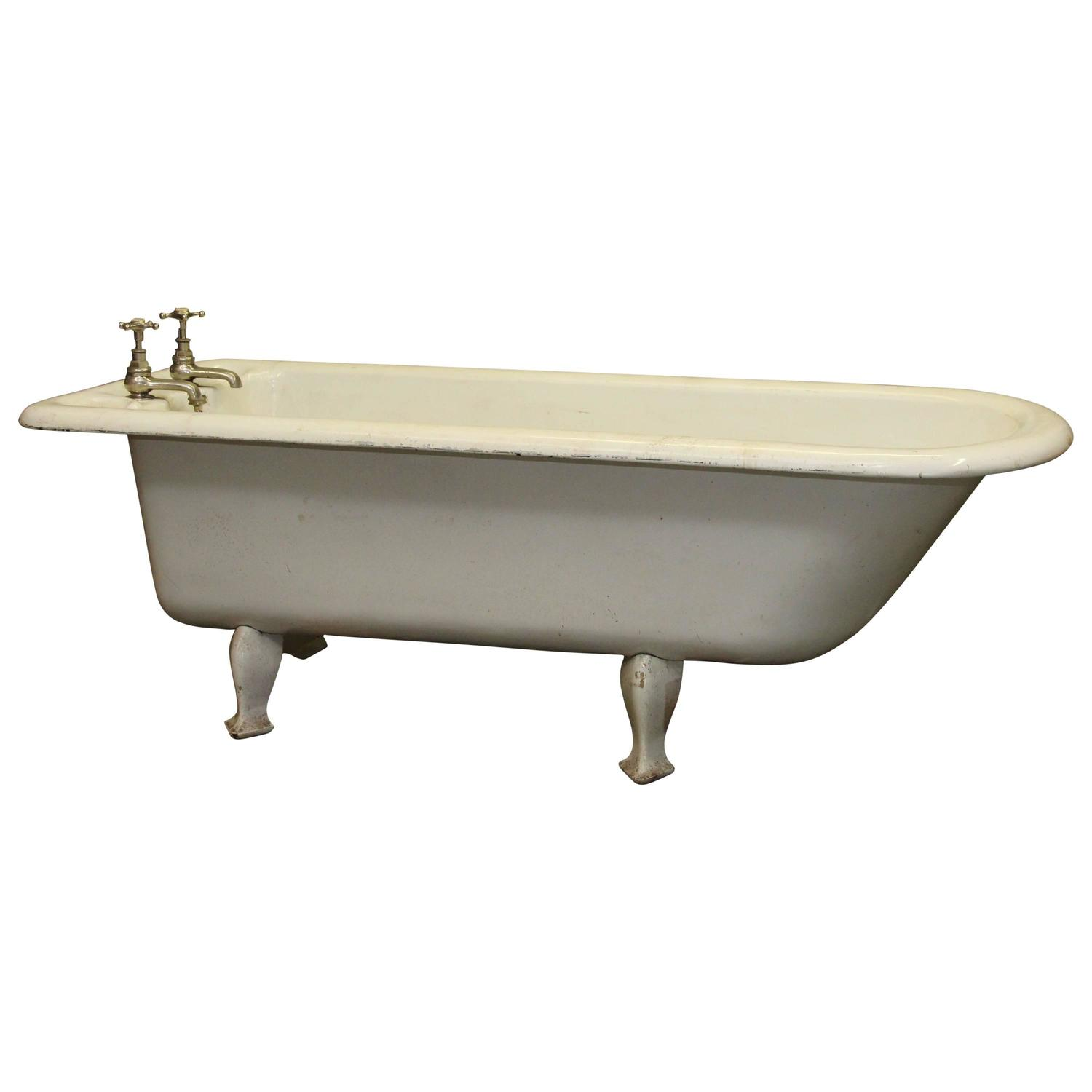 1800s Unique 6.5 foot long English Claw Foot Bathtub with Soap Dish ...