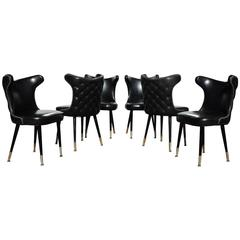 Sleek Hollywood Regency Chairs