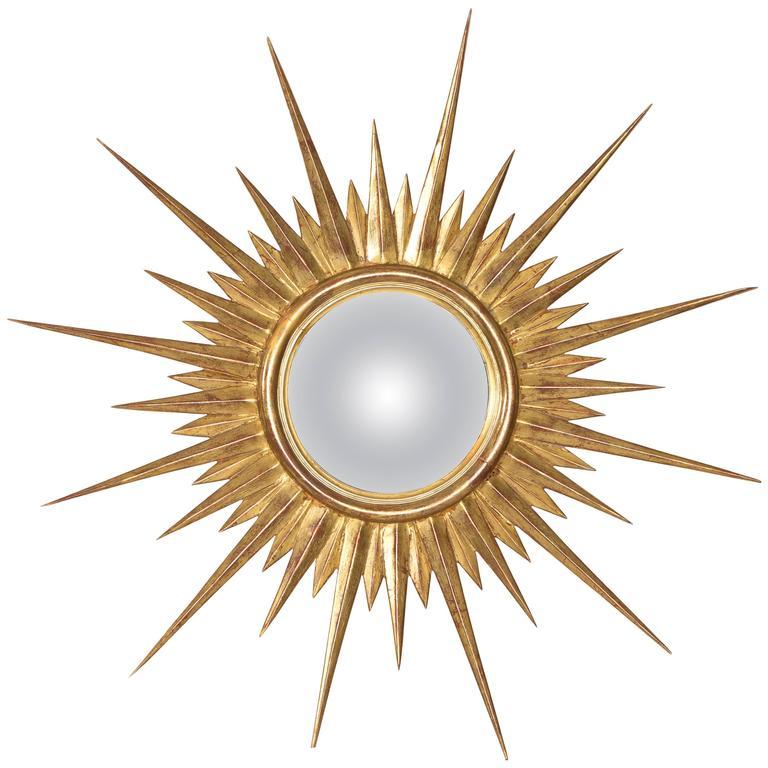 Antique Gold Leaf Sunburst Mirror At 1stdibs