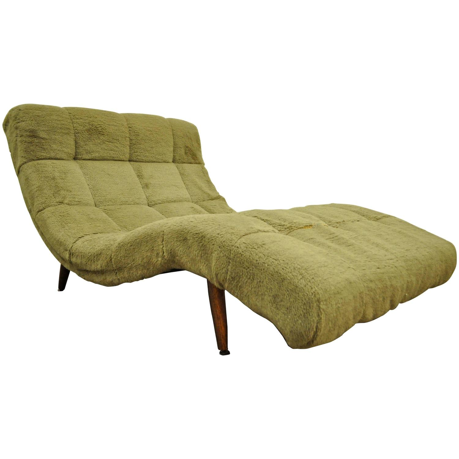MidCentury Modern Double Wide Wave Chaise Lounge in the style of Adrian Pears
