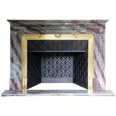 Louis XVI Style Campan Marble Fireplace, 19th Century