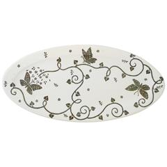 Emilia Castillo Ceramic Plate with Sterling Silver Overlay