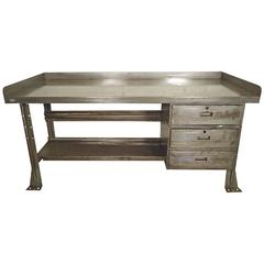 Industrial Metal Workbench or Desk