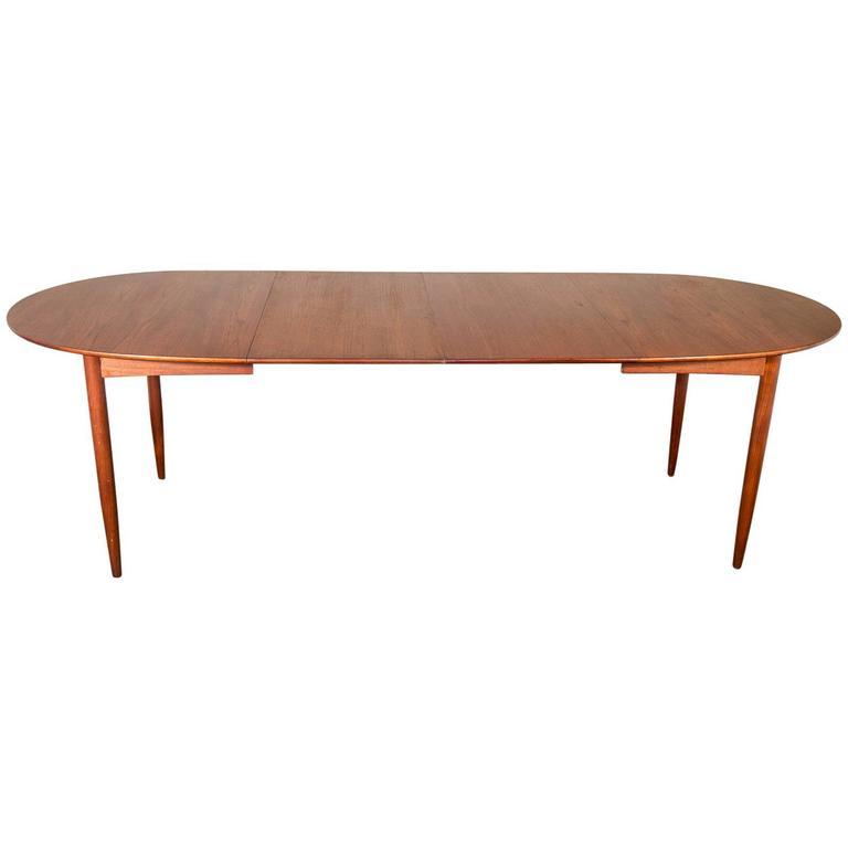 1950s scandinavian teak dining table at 1stdibs - Scandinavian teak dining room furniture design ...