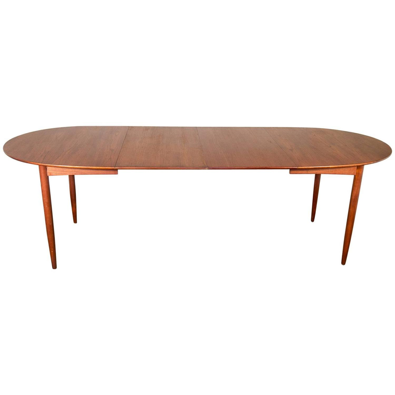 1950s Scandinavian Teak Dining Table at 1stdibs
