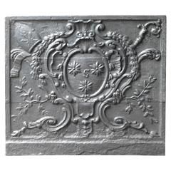 Magnificent and Heavy Fireback with Episcopal Coat of Arms