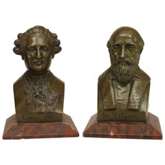 Pair of Mid-19th c. French Busts of Louis XVI and Titian by Chardigny, 1858