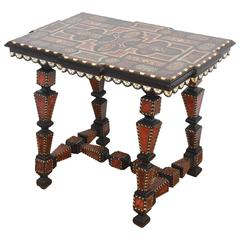 19th Century Italian Inlaid Side Table