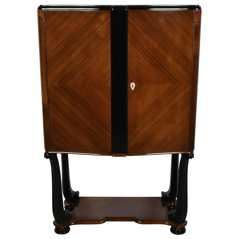 french art deco dry bar cabinet for sale at 1stdibs. Black Bedroom Furniture Sets. Home Design Ideas