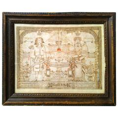 Elizabethan Old Master Marriage Drawing