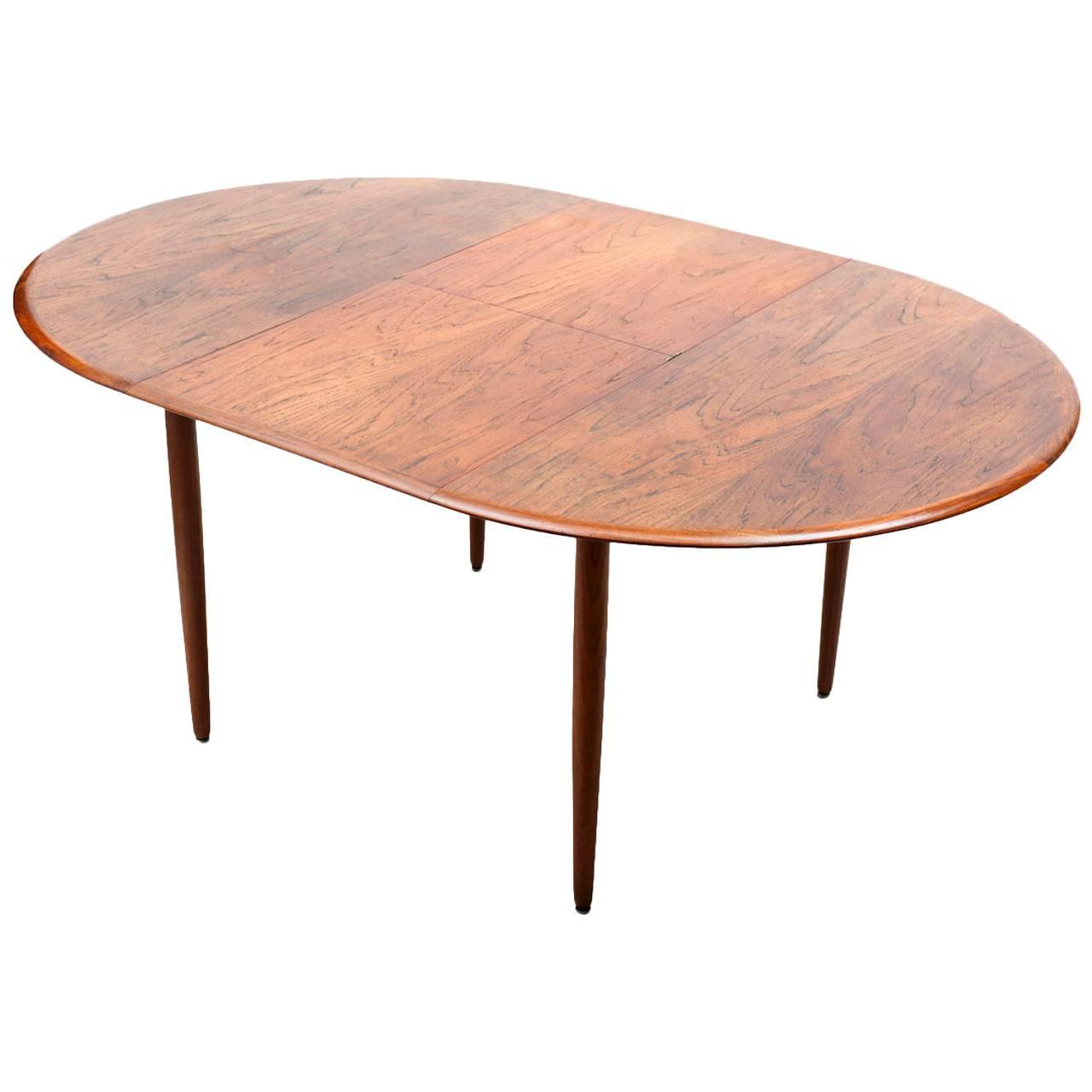 Scandinavian extensible dining table 1960s at 1stdibs for Table extensible 160