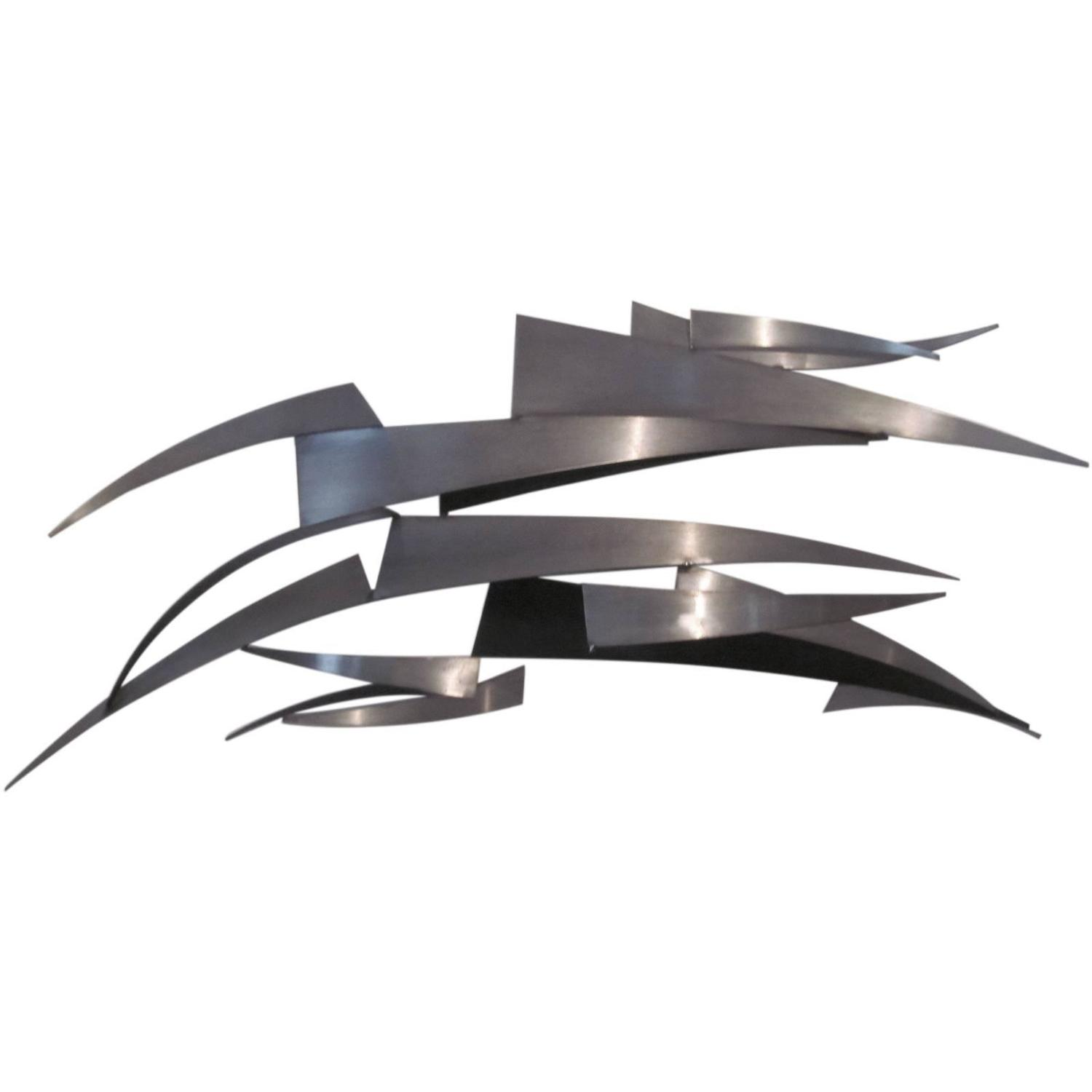 Curtis jere stainless steel wall sculpture at 1stdibs for Stainless steel wall art