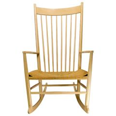 Vintage Danish Modern Rocking Chair by Hans J. Wegner