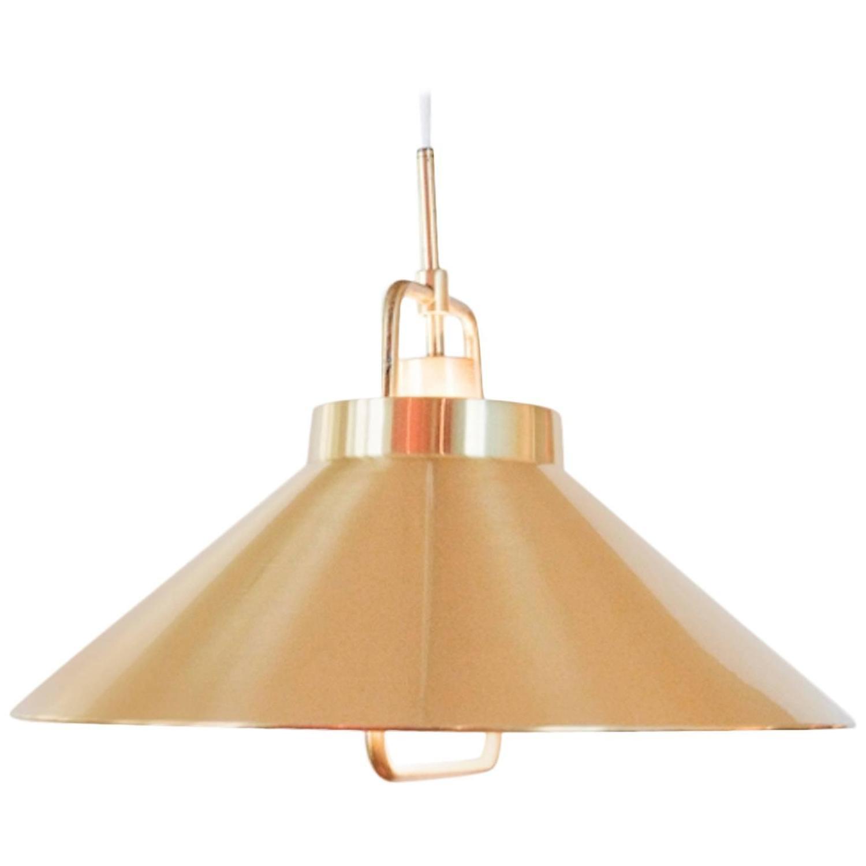 Modern Vintage Pendant Lighting : Vintage danish modern brass pendant light at stdibs